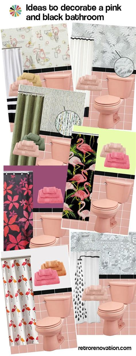 pink and black bathroom ideas best 25 vintage bathroom decor ideas on half