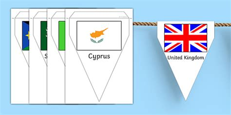 World Flag Bunting Printable