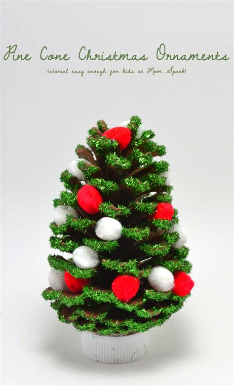 pine cone christmas ornaments mom spark mom blogger
