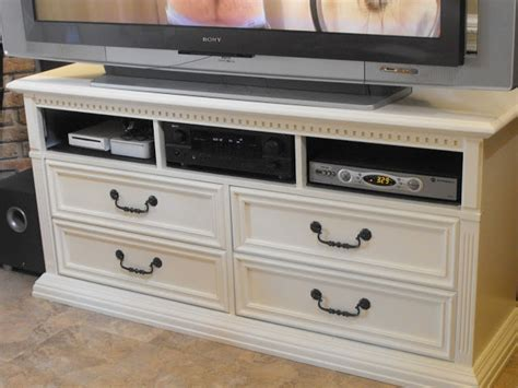 Dresser Made Into Tv Stand by From Black To White Dresser Changed Into Tv Stand A