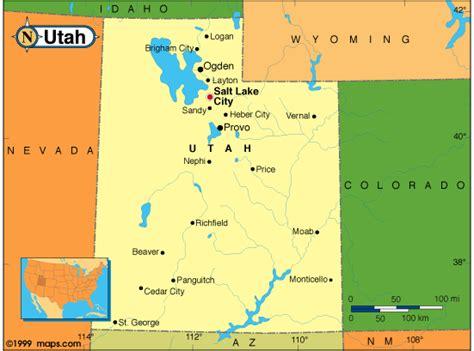 usa states map utah utah map and utah satellite image