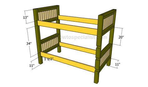 Build Loft Bed Frame How To Build A Bunk Bed Howtospecialist How To Build Step By Step Diy Plans