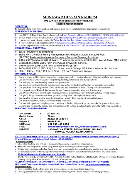 free sle resume for visual merchandiser cover letter sle for merchandiser 28 images resume sle