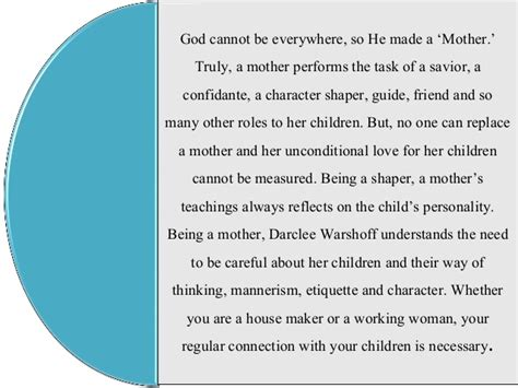 What Is Motherhood by Darclee Warshoff What Is A For