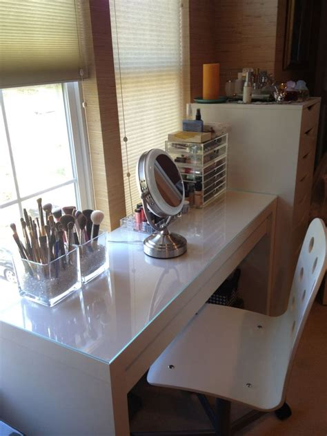 Ikea Malm Dressing Table Used As Makeup Vanity Chair Is Ikea White Vanity Desk