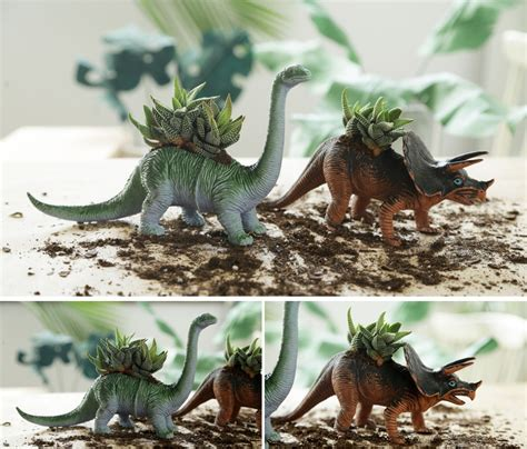 Dinosaur Succulent Planter by 29 Diy Succulent Planter Ideas Creative Ways To Display
