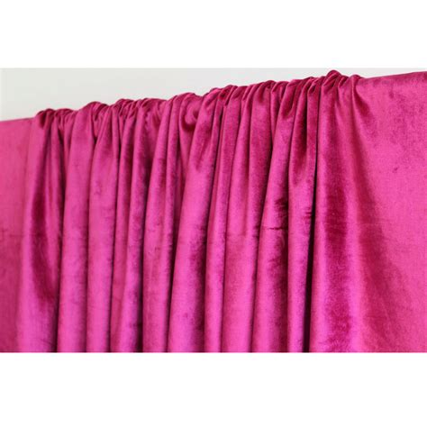 fushia pink curtains hot pink fuchsia velvet curtain 52x84 rod pocket