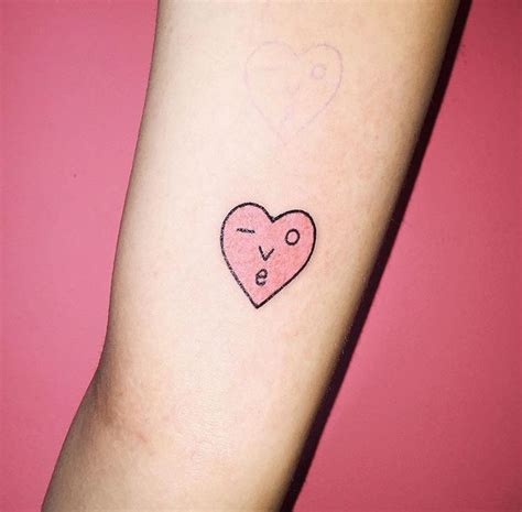 korean simple tattoo korean tattoo pinteres