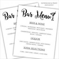 Free Bar Templates Printable by Bar Menu Template 24 Documents In Psd Word