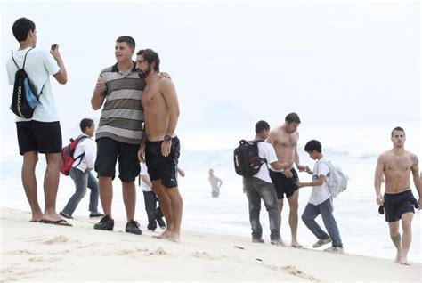 salvatore bagni pirlo la nazionale italiana in spiaggia a de janeiro