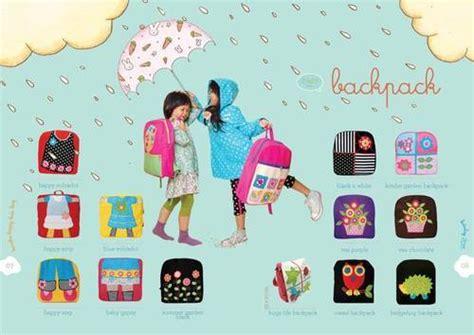 Ransel Flower White Pink Black ransel backpack anak konoka