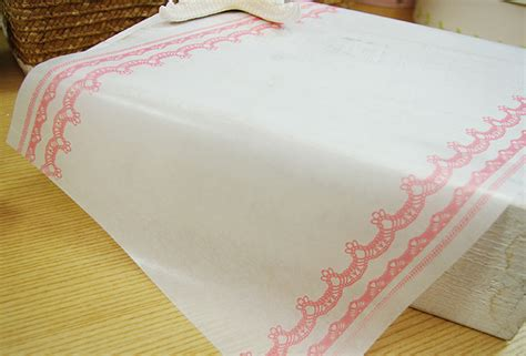 Decorative Wax Paper by Lace Printed Wax Paper 25x37cm Set Of 20