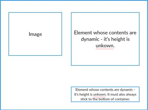 css layout bottom layout css position element on bottom of container