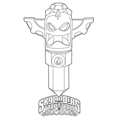 krypt king coloring pages bekijk skylanders trap team 0007 kleurplaat try it out