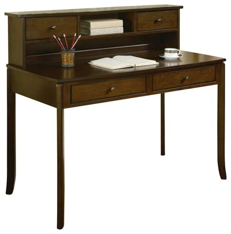 Small Writing Desk With Hutch Coaster Desks Classic Writing Desk With Small Storage Hutch In Walnut Transitional Desks And