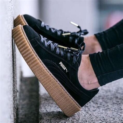 Premium Quality Fenty X Creepers By Rihanna Black Gum Sole 25 best ideas about rihanna sneakers on rihanna creepers shoes creepers and