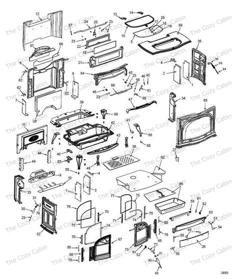 Vermont Castings Fireplace Parts by Defiant Non Cat 1610 The Cozy Cabin Stove Fireplace