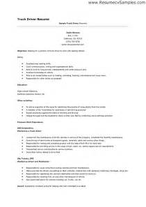 driver resume sle application letter for a driving
