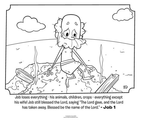 job loses everything bible coloring pages what s in