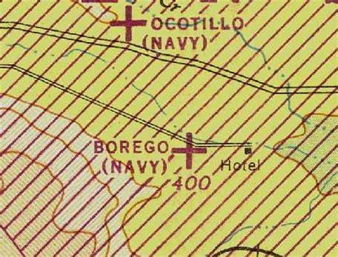 San Diego Sectional Chart by Abandoned Known Airfields