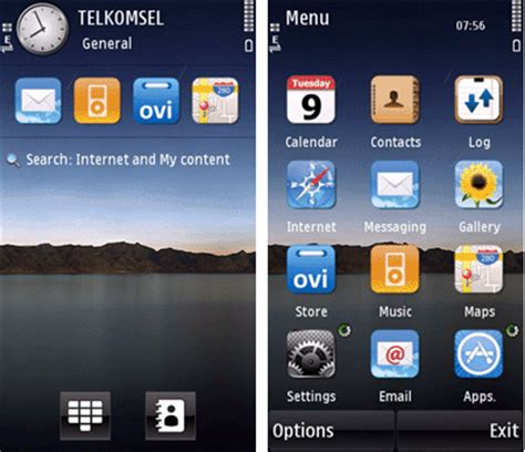 themes nokia ki mobile phones s60v5 theme lake