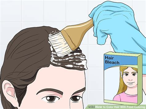 food coloring in hair the best ways to color hair with food coloring wikihow