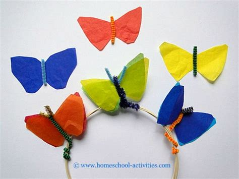 Papercraft Butterfly - summer crafts for