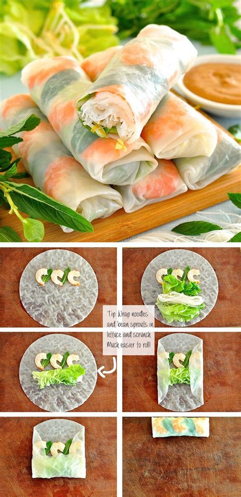 How To Make Rice Paper Wrappers - 25 best ideas about rice paper rolls on