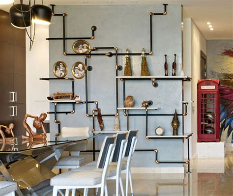 Pipe Interior by Eclectic Interior Splashed In Colorful Furniture And