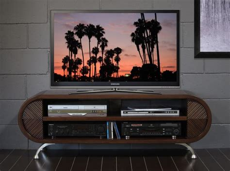 curved tv stand woodwaves