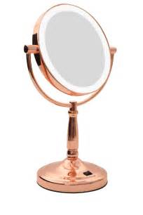 Makeup Mirror With Lights No7 Homedics Led Vanity Mirror Gold Myer
