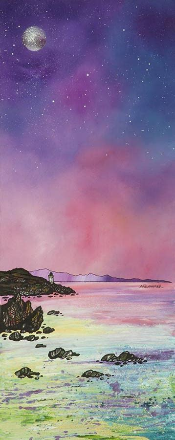 spray painting scotland paintings prints of the isles of mull islay and iona