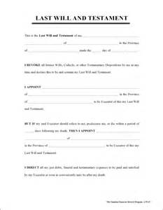free simple will forms printable last will testament
