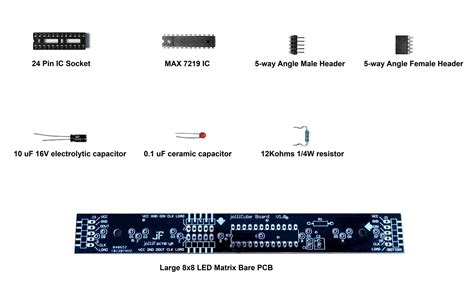Modul Led Matrix 8x8 By Ecadio large 8x8 led matrix module diy kit from nick64 on tindie