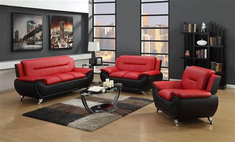 red living room set red and black living room set leather living room sets