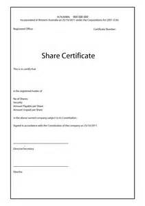stock certificates templates blank certificates exles of agendas for meetings