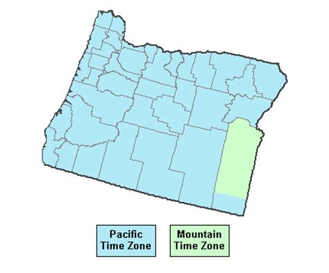 map of oregon time zones current time in oregon