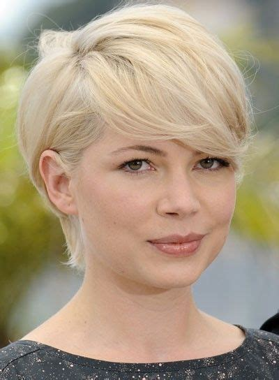 short pear shaped celebrities michelle williams hairstyles for pear shaped face