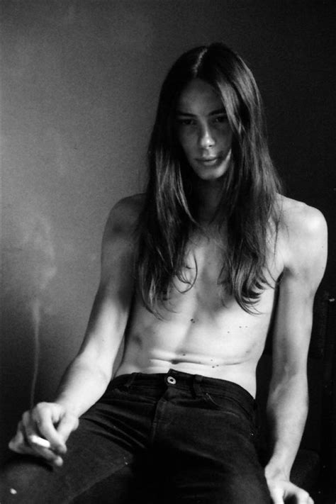 top long haired male models long haired shirtless male model male models picture
