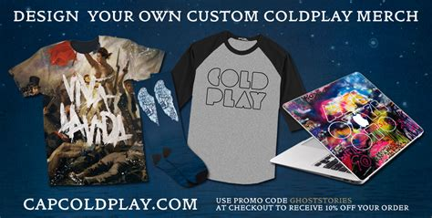 design your own coldplay merch coldplay