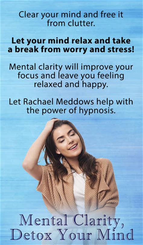 Detox Your Mind And by Mental Clarity Detox Your Mind Hypnosis And Meditation