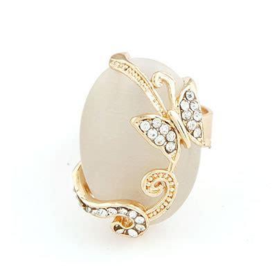 Diskon Gelang Korea Multi Charm Butterfly shopping white cymophane butterfly alloy korean rings asujewelry