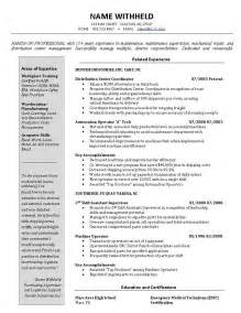 warehouse manager resume templates warehouse manager resume exles best business template