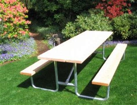 commercial outdoor picnic table frame kit 8 ft