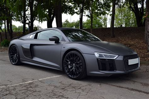 wrapped r8 2016 audi r8 matte dark grey wrap reforma uk