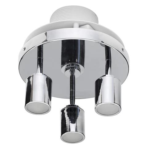 3 Light Bathroom Ceiling Spotlight W Extractor Fan Chrome Bathroom Extractor Fan With Light
