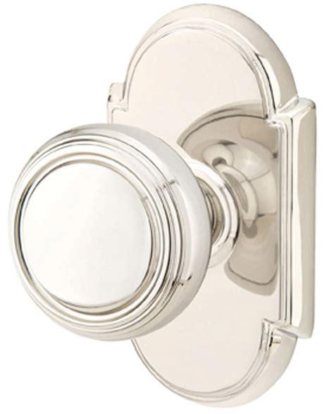 Polished Nickel Door Knobs by Solid Brass Norwich Door Knob Set With 8 Rosette