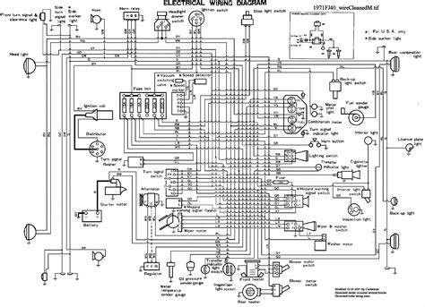 1970 toyota land cruiser wiring diagrams 1970 get free