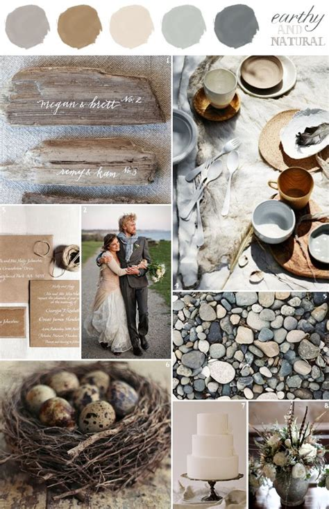 wedding colors combination earthy and natural