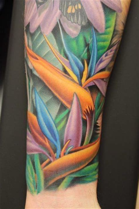 paradise tattoo designs ideas for bird of paradise flower tattoos 171